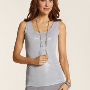 Chico's Camisole Tank Silver Shimmer Size 0/Small